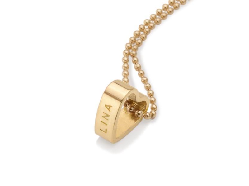 Namenskette MEIN HERZ GOLD vergoldete Kette mit Namensgravur