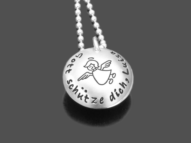 Taufkette GOTTES SEGEN KREUZ 925 Silberschmuck Namensgravur