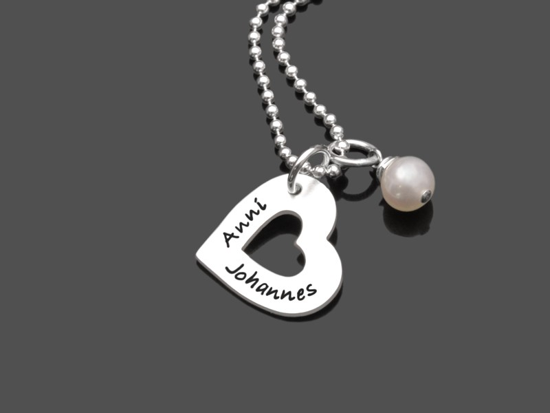 Silberkette I HEART YOU MINI 925 Namenskette Gravurschmuck