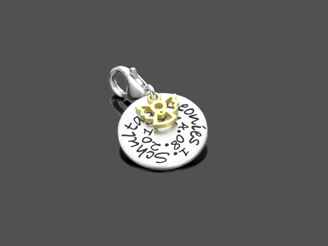 1.SCHULTAG 925 Silber Anhänger Charm Einschulung