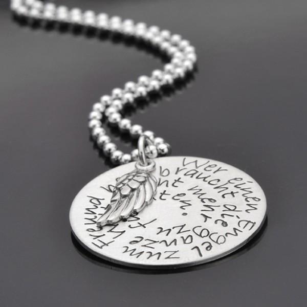 EINEN ENGEL ZUM FREUND 925er Silber handgest. Kette, Namensschmuck