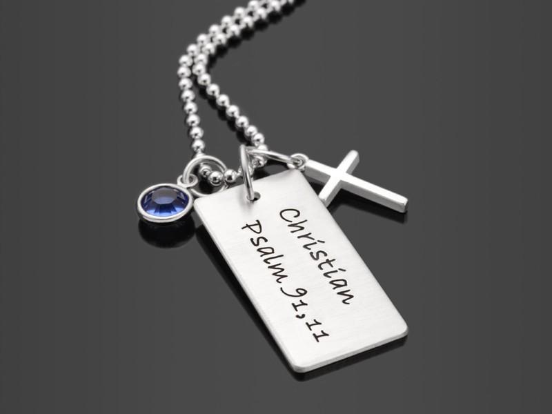 Kette zur Konfirmation und Kommunion mit Kreuz