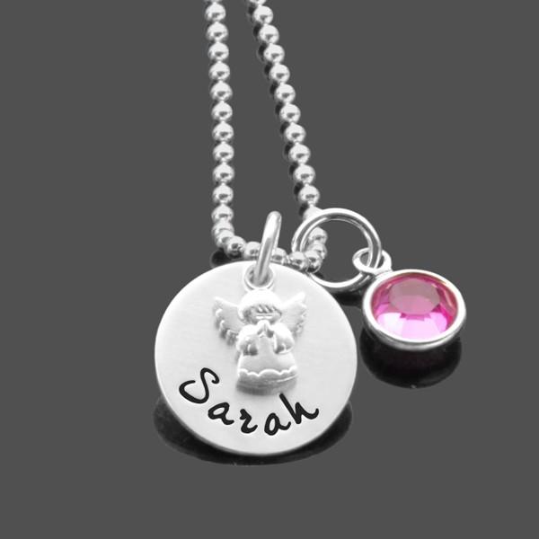 Taufkette-Engel-Namenskette-925-Silberkette