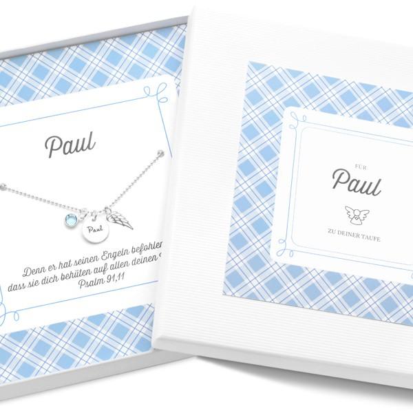 Taufkette-Junge-925-Silberkette-mit-Geschenkbox-Taufschmuck