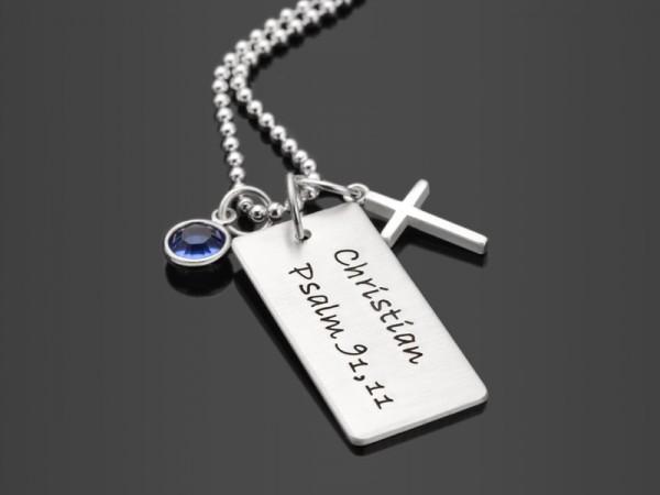OH LORD 2.0 Kette mit Namensgravur und Kreuz Kommunion/Konfirmation