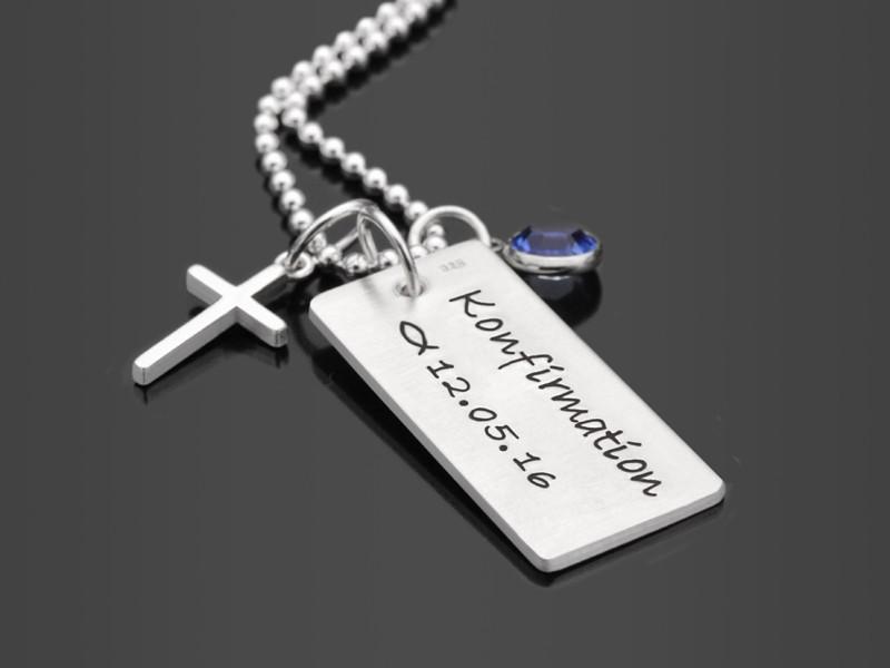 Kette zur Konfirmation und Kommunion mit Gravur