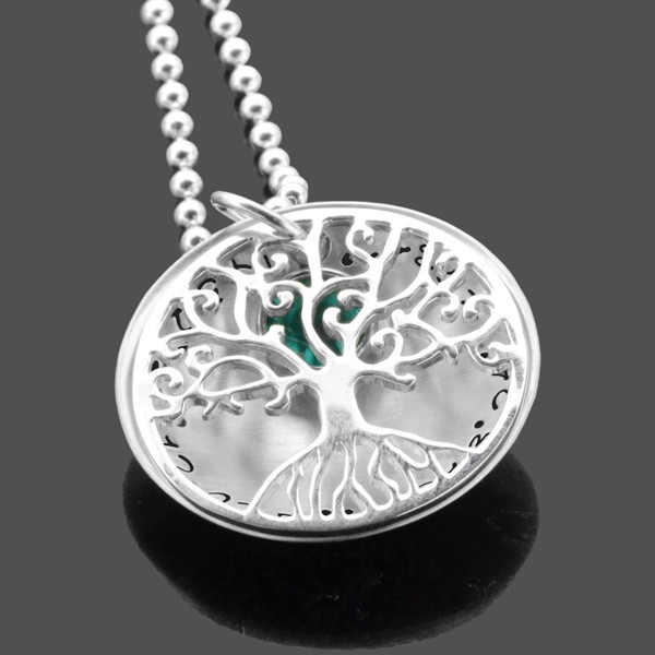Lebensbaum-Kette-Gps-925-Silber-Namenskette-Koordinaten