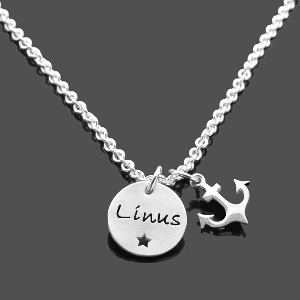 Namenskette-Junge-925-Silberkette-Gravur