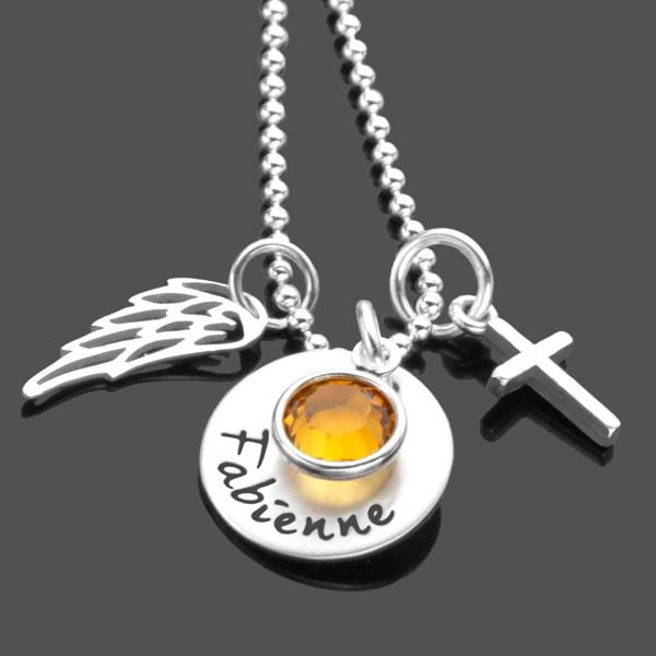 Silberkette zur Konfirmation mit Gravur