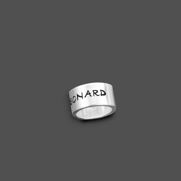 Anhänger mit Gravur ROLL 925 Silber Charm mit Initialen