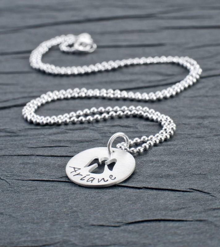 Taufkette mit Schutzengel I WILL FOLLOW HIM 925 Sterling Silber