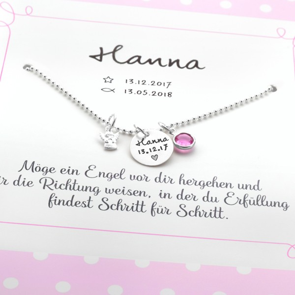 Taufkette-Maedchen-Namenskette-mit-Gravur-Schutzengel-Geschenk