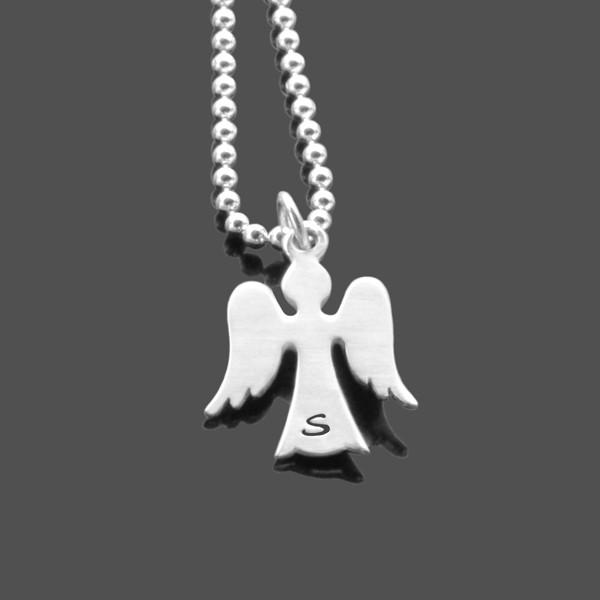 Kette-mit-Gravur-925-Silber-Kette-mit-Initialen-Schutzengel