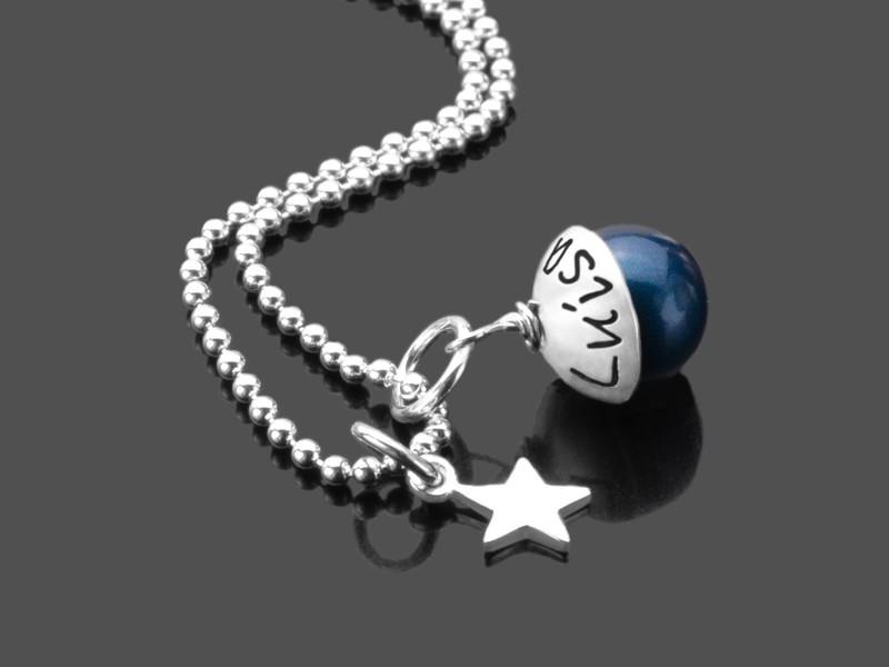 Namenskette LYHO STERN 925 Silber individueller Gravurschmuck
