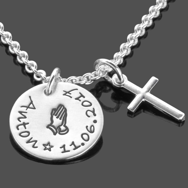 Taufkette für Jungen mit Kreuz