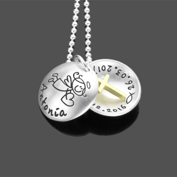 Taufkette-Maedchen-Silber-mit-Engel-Kreuz-Gravur