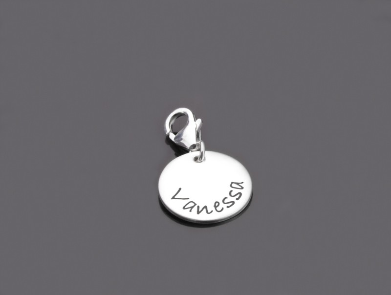 SELECT NAME 925 Silber Charm mit Namensgravur