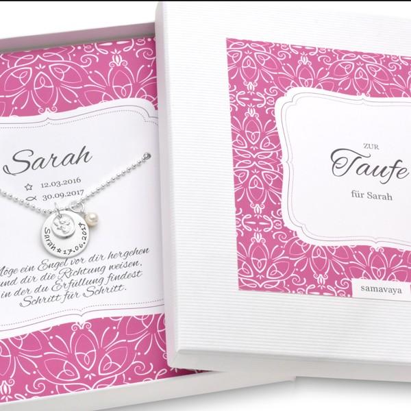 Taufkette-Maedchen-mit-Geschenkkarton-Schutzengel