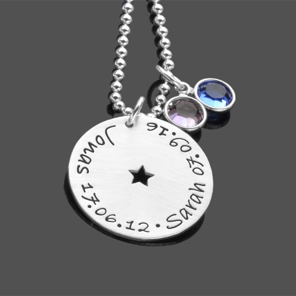 Familienkette OUR STARS 925 Silber Namenskette Kindernamen