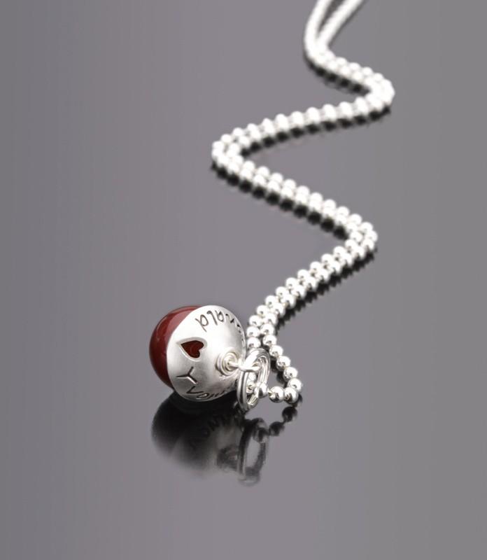 LYHO Herzchen Kette mit Gravur, Namenskette, 925 Silber