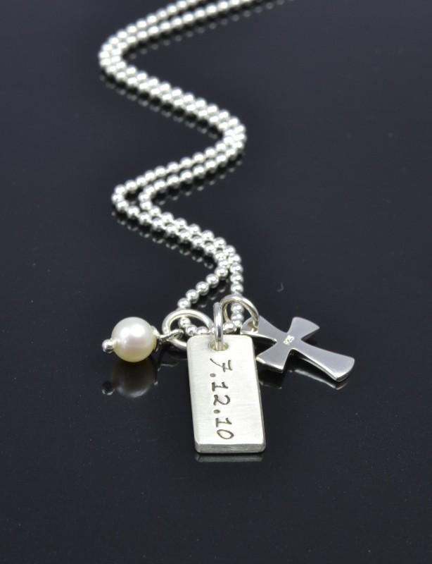 RELIGIOUS 925 Silber Kette, Namensschmuck zur Konfirmation