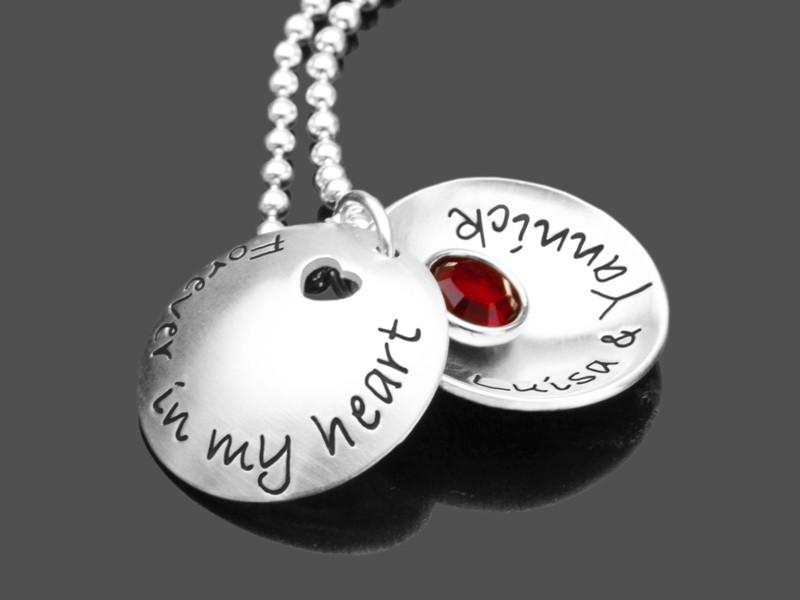 Partnerschmuck FOREVER IN MY HEART 925 Silber Kette