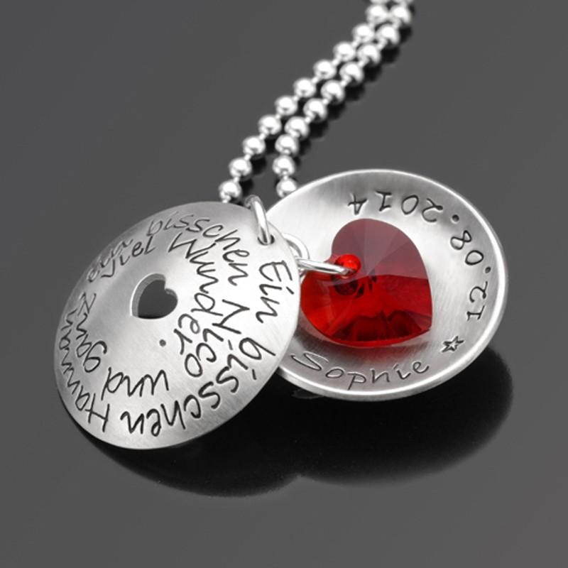 Silberkette mit Text und Namensgravur