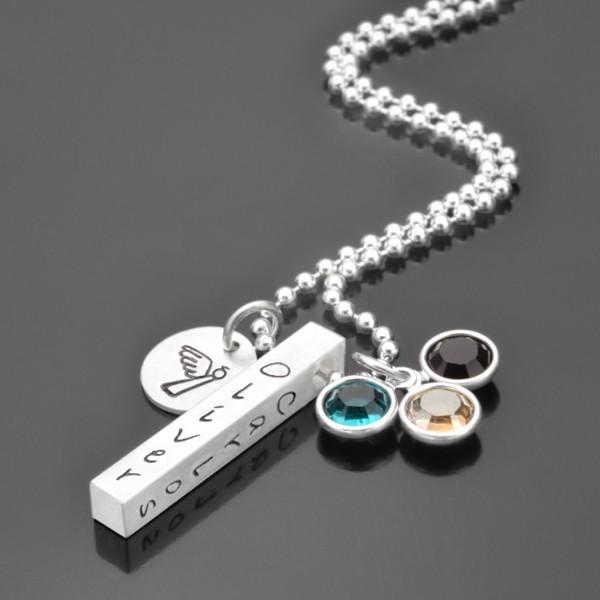 Namenskette-925er-Silberkette-Silberbarren