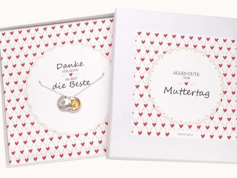 DIE BESTE 925 Kette Geschenk Muttertag Geschenkverpackung Geschenkbox