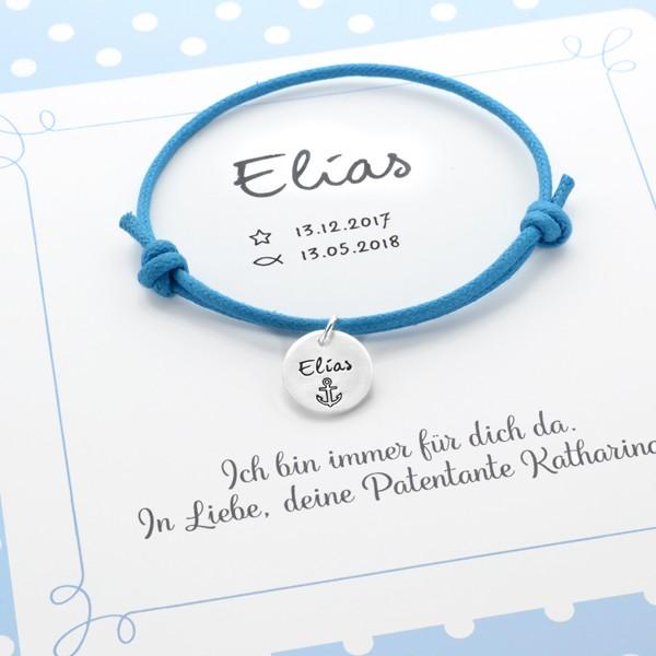 Taufarmband-Junge-Armband-Geschenkkarton