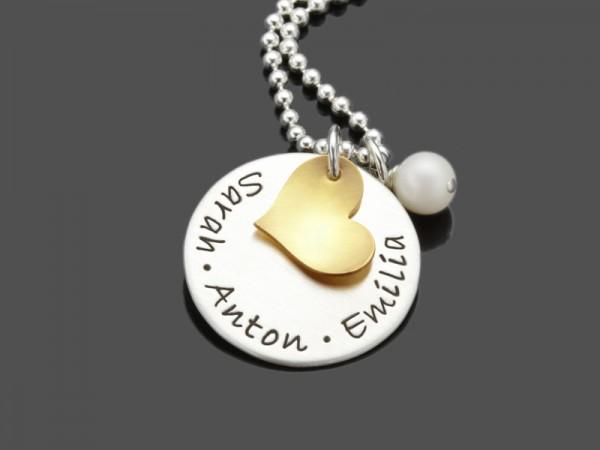 Namenskette MY LOVED ONES GOLD 925 Silberschmuck Gravur
