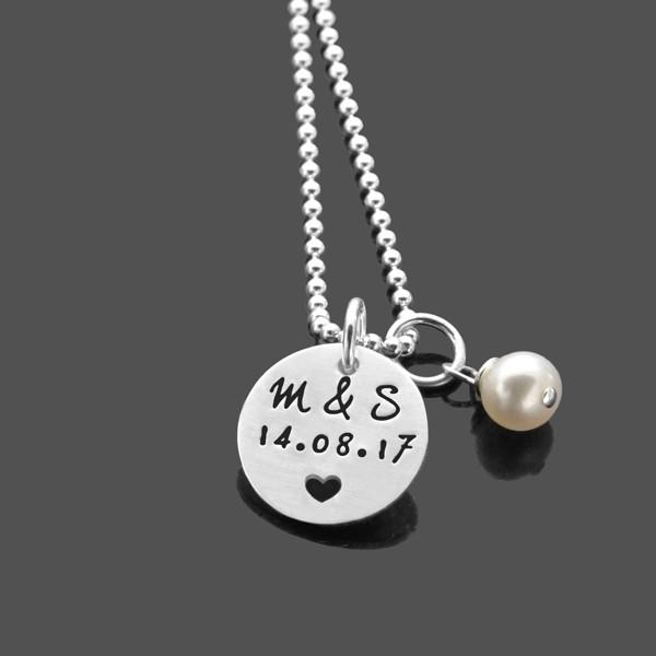 Partnerkette-Gravur-925-Silber-Namenskette-Hochzeit