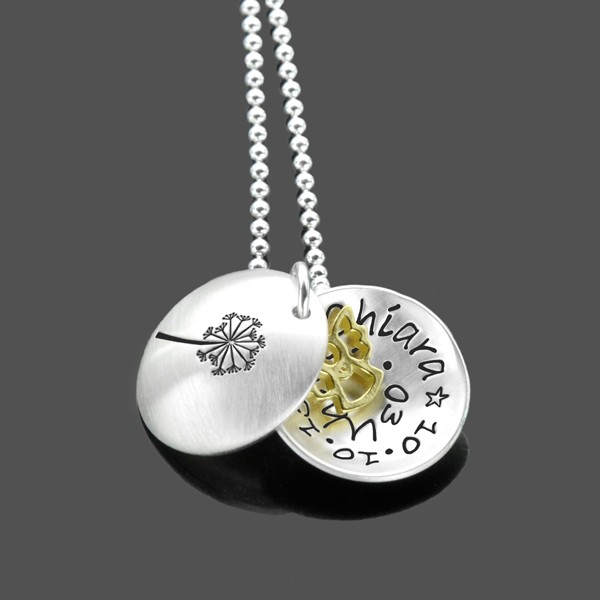 Kette Einschulung SCHULANFANG Engelchen Gold 925 Silber Kinderkette