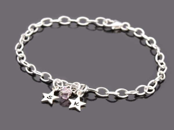 MINISTERNE 925 Silber Armband mit Initialen