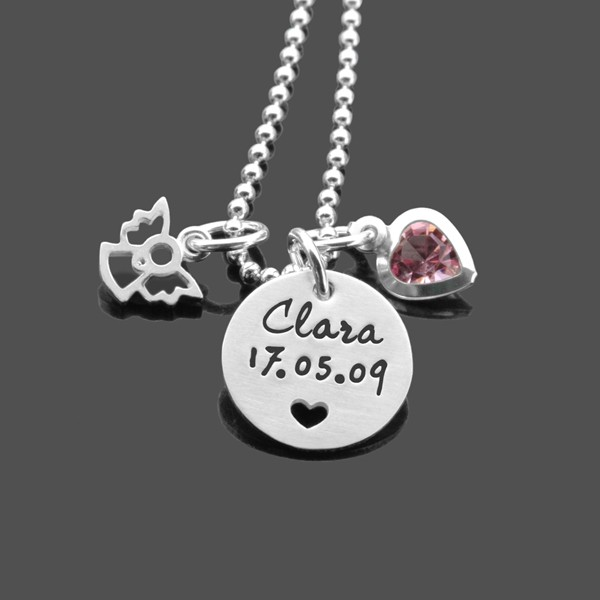 Kette Mädchen HERZIG 2.0 Kinderkette Silber mit Gravur