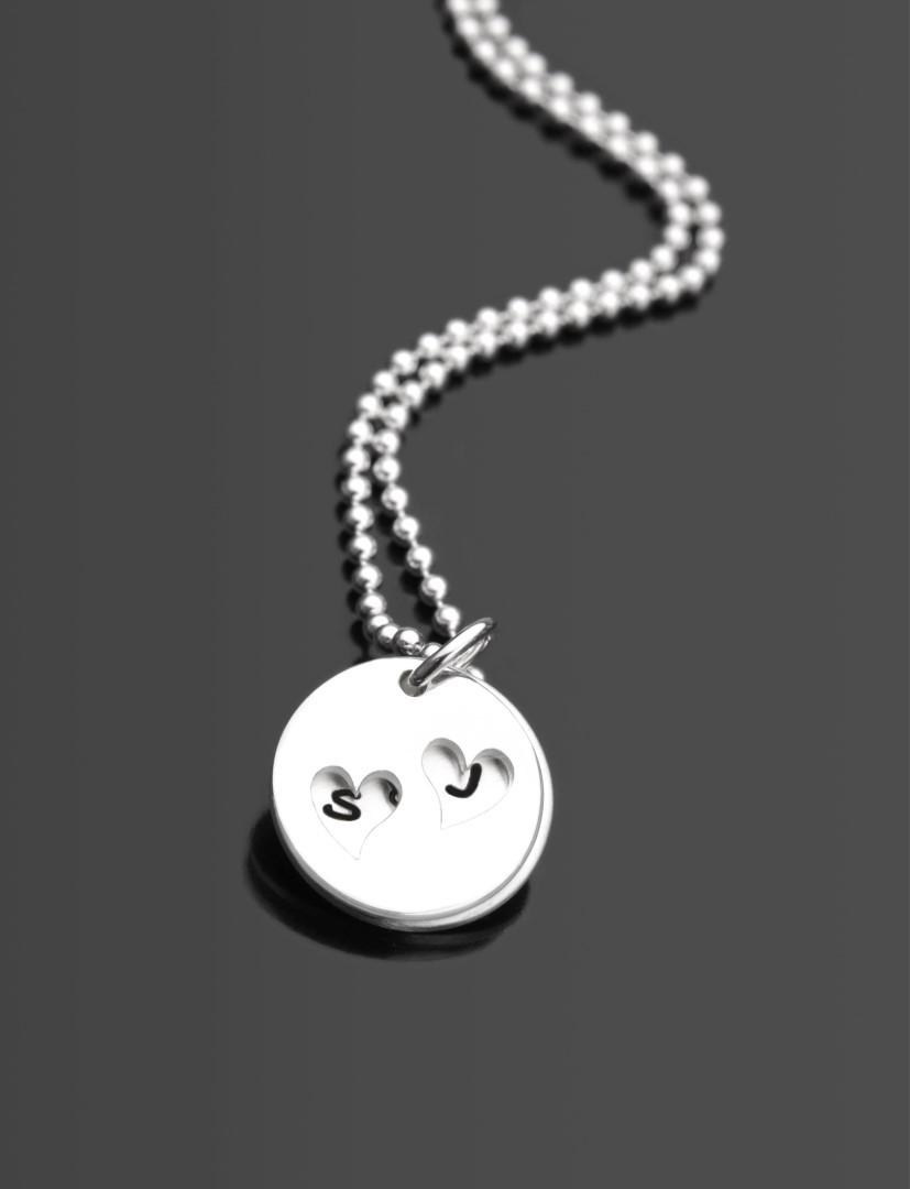 HIDDEN HEARTS 925 Silberkette mit Gravur