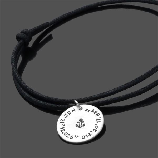 Anker Armband für Herren ANCHOR Armband mit Koordinaten