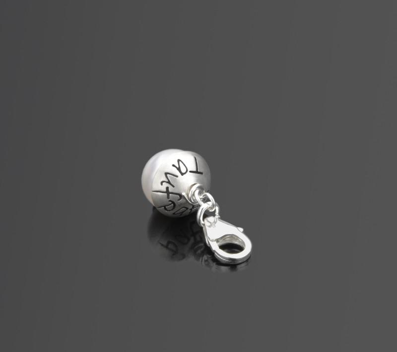 TAUFPATIN 925 Silber Charm, Unikatschmuck für den Taufpaten