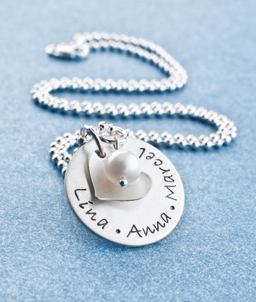 Namenskette MY LOVED ONES 925 Silberschmuck Namensgravur