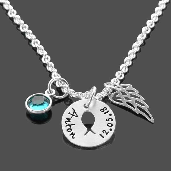 Taufkette-Gravur-925-Silberkette-Namensgravur