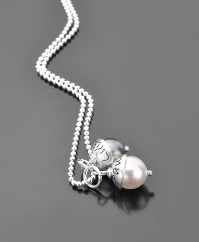 Kette mit Gravur LYHO DOUBLE Namenskette Silber