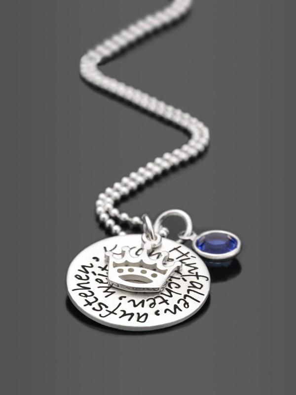 KRONE RICHTEN 925 Silberkette mit Gravur Schmuck