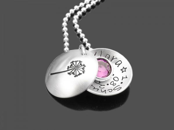 Kinderkette SCHULANFANG 925 Silber Gravur Name Geschenk Einschulung