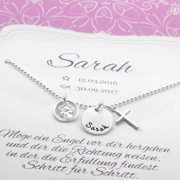 Taufkette-Gravur-Kreuz-925-Silber-Taufschmuck-Geschenkbox