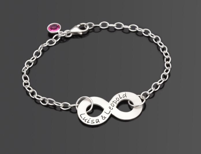 INFINITY Armband mit Gravur, 925 Silber