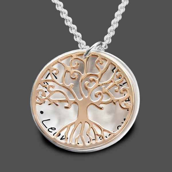 Kette-Lebensbaum-Rosegold-Namen-Gravur