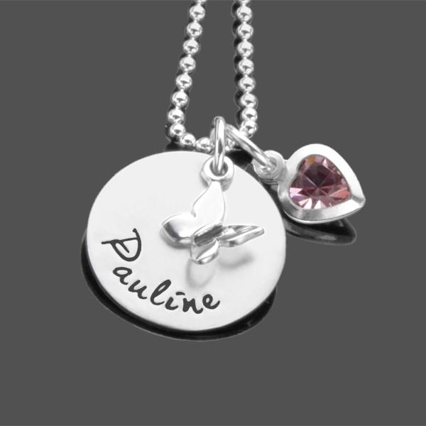 Kinderkette ENTDECKER 925 Silber Namenskette mit Gravur