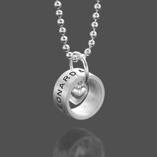 Namenskette Silber