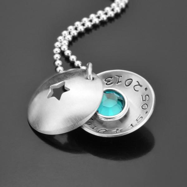 Taufkette mit Gravur aus 925 Silber, personalisierbar