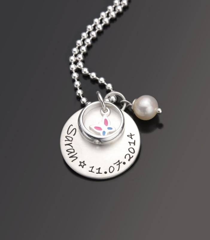 Taufkette FLIEG 925 Silberkette mit Schmetterling